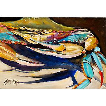 Carolines Treasures JMK1100PLMT krabbe til krabbe blå krabbe stoff underlag