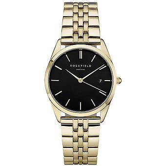 Rosefield Ace Quartz Analog Women's Watch with ACBKG-A13 Gold Plated Stainless Steel Bracelet