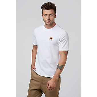 Hymn Rising Sun Embroidered Tee White