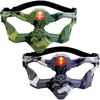 2 Light Battle Active VIP Masks (camo green, grey)