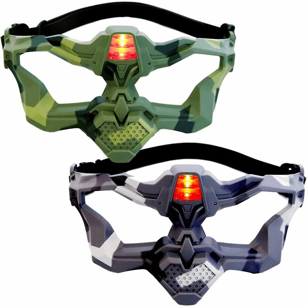 2 Light Battle Active VIP maskers (camo groen, grijs)