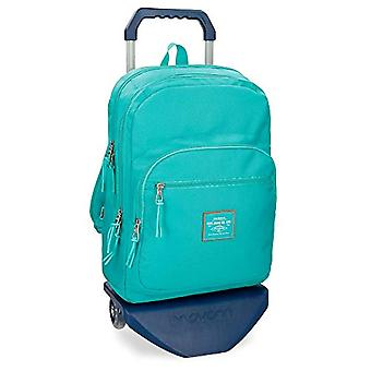 Pepe Jeans Cross Green Backpack 44 cm with Trolley - Double Compartment