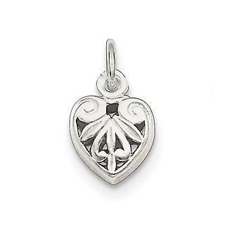 925 Sterling Silver Hollow kiillotettu Filigree Love Heart Charm riipus kaulakoru korut lahjat naisille