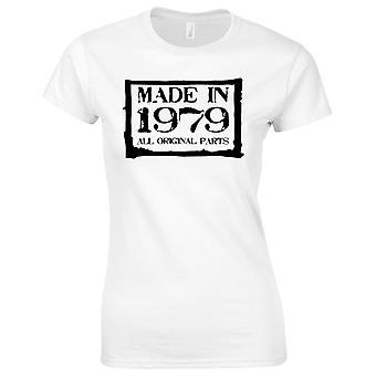 40ste verjaardagsgiften voor vrouwen haar gemaakt in 1979 T-shirt