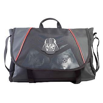 Star Wars Messenger Bag Classic Darth Vader Helmet Logo nuovo ufficiale nero