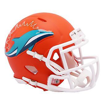 Riddell Speed Mini Football Helm - NFL AMP Miami Dolphins