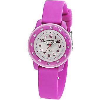 SINAR jeugd horloge Kids horloge analoge Quartz siliconen lint meisje XB-22-8 roze