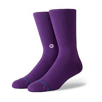 Stance Icon Crew Socks in Purple