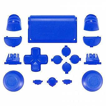 Full replacement button set mod kit for 2nd gen sony ps4 jdm-030 controllers - blue