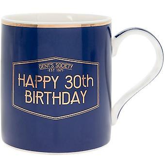 Lesser & Pavey Fine China Gents Society Happy 30th Mug