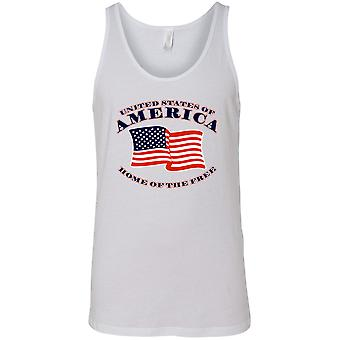 USA Flag Tank Top Men's Home of the Free Pride
