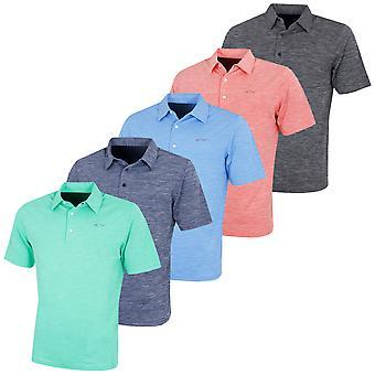Greg Norman Mens Golf  KX73 Bold Heathered Shirt