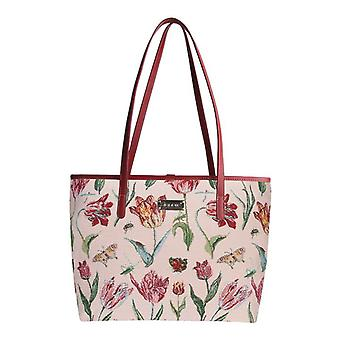 Marrel's tulip white shoulder tote bag by signare tapestry / coll-jmtwt