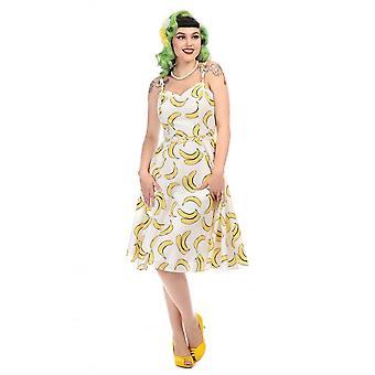 Aida Zak Collectif Vintage Women's Simona Banana Print Swing Dress
