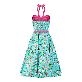 Collectif Vintage Women's 1950's Paradise Ginger Wing Bust Dress