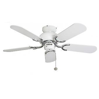 Plafonnier ventilateur Fantasia Capri blanc / acier 91cm/36