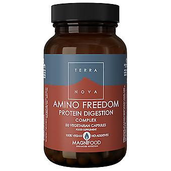 Terranova Amino Freedom - Protein Digestion Complex 50 Vegetarian Capsules