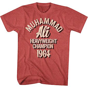 American Classics Muhammad Ali Heavyweight Champion 1964 T-Shirt - Red Heather