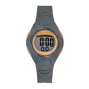 Tekday Watch 654665 - Silicone Grey Box Bracelet