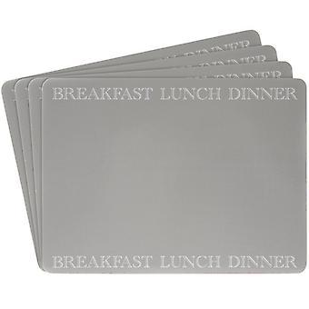 Leonardo Classic Grey Kitchen Range Zestaw 4 Placemats