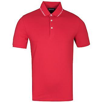 Emporio Armani Markenkragen rot Polo Shirt