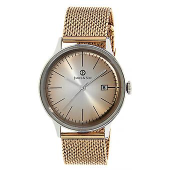 Watch James And his JAS10003 312 - dater steel Rose man