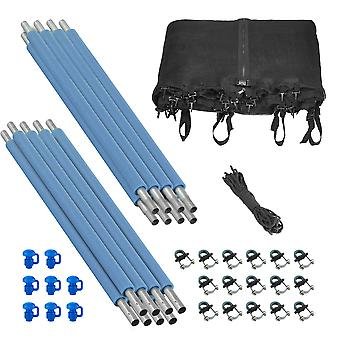 Trampoline Enclosure Set (8 Poles) to fit 12 FT. Frame with 4 or 8 W-Shaped Legs