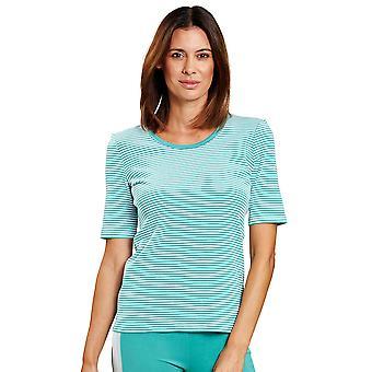 R'sch 1203205-15641 Femmes-apos;s Pure White Spearmint Striped Loungewear Top