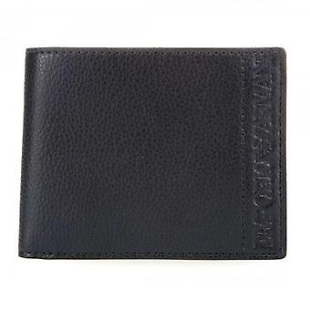 Emporio Armani Embossed Black PU Coin Pocket Wallet Y4R165 YSL5J