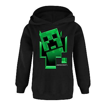 Minecraft Creeper Inside Hoodie Boy's Kids Gamer Black Hooded Jumper