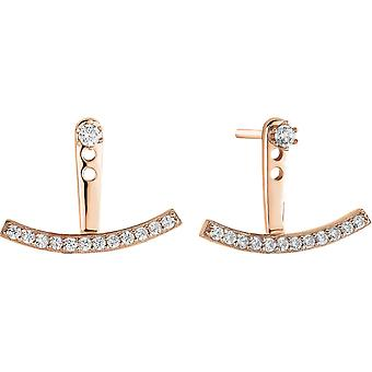 Earrings Zeades Ser02028 - earrings Rose Gold crystals woman