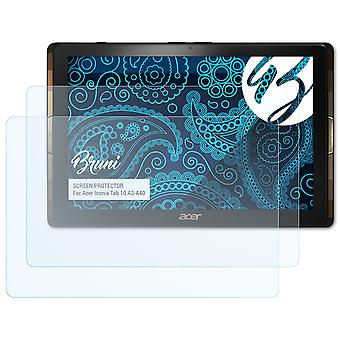 Bruni 2x Screen Protector compatible with Acer Iconia Tab 10 A3-A40 Protective Film