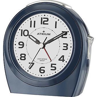 ATRIUM wekker analoge quartz blauwe A451-5 zonder tikkend nachtlicht