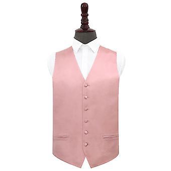 Dusty rosa llano satinado chaqueta de boda