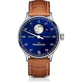 MeisterSinger Men's Watch Classic Plus Lunascope One-Hand Watch Automatic LS908_SG03