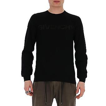 Givenchy Bm90cl4y5u001 Men-apos;s Black Cotton Sweater