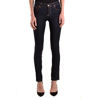 Brian Dales Ezbc126030 Women's Blue Cotton Jeans
