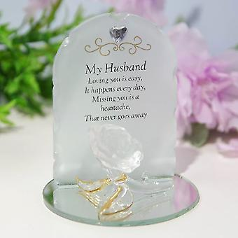 Widdop & Co. Thoughts Of You Rose Plaque - Husband