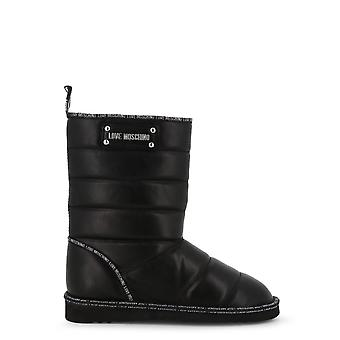 Love Moschino Original Women Fall/Winter Ankle Boot - Black Color 38013
