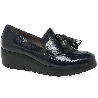 Wonders Murcia Womens Wedge Heel Tassel Loafers