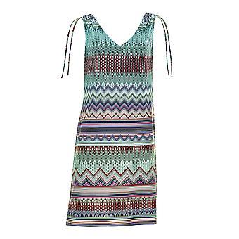 Sunflair 23304-3099 Women's New Missy Night Blue Multicolour Aztec Beach Dress