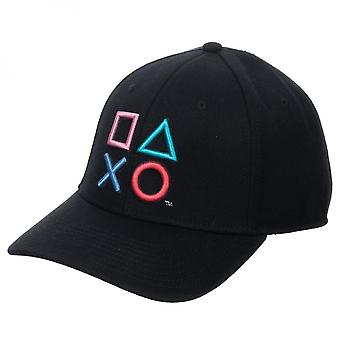 Botones bordados de PlayStation 3D Flex Fit Hat