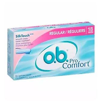 O.b. pro komfort tamponger, vanlig, 18 ea