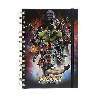 A5 Metallic Notebook-Avengers: Infinity War