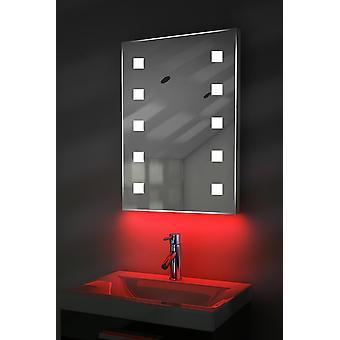 Miroir ultra-mince avec UnderLighting,Bluetooth et Capteur k207Waud