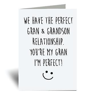 لدينا الكمال غران وحفيد العلاقة، أنت جدتي وأنا الكمال! بطاقة المعايدة A6