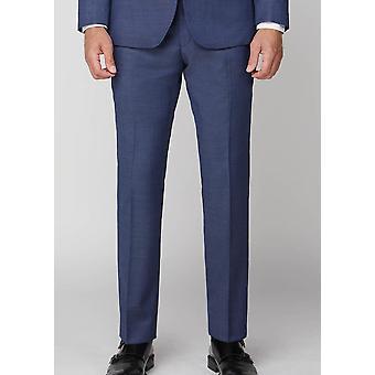 Plain Navy Pin-Dot Suit Trousers