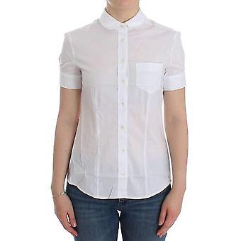 Galliano White Cotton Shirt Top -- SIG1447813