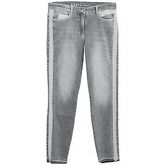 Bianca Gri İnce Bacak Jeans
