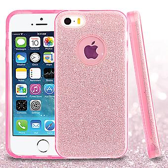 Asmyna Full Glitter Hybrid Case for Apple iPhone 5/5S - Pink